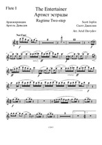 The Entertainer. Arrangement for Chamber Orchestra – Parts