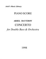 Concerto for Double Bass and Orchestra (Piano Score and Double Bass Part)